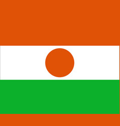 Flag of niger in official rate and colors vector