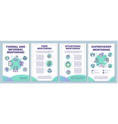 Formal and informal mentoring brochure template vector