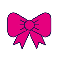 fuchsia bow cartoon vector image