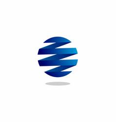 global wave technology vector image