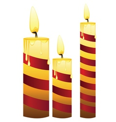 Glowing Candles Set3 vector