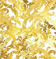 gold floral pattern vector image