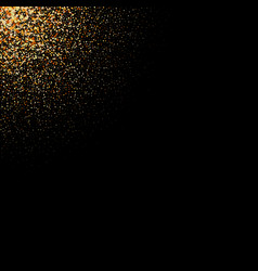 gold glitter texture on a black background golden vector image