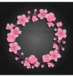 Graphic sakura wreath vector image