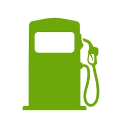 Green fuel pump vector image