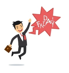 Happy businessman on Friday vector image