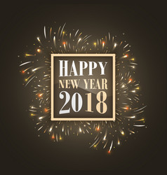 Happy new year 2018 background with glowing vector