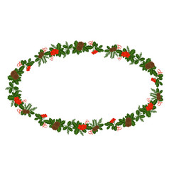 holly berry branch for christmas wreath and vector image