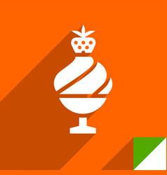 Icon on square sticker vector