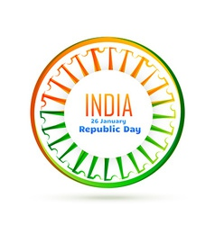 indian flag wheel with tri color vector image