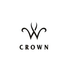 king queen crown w woman wellness wealth logo vector image