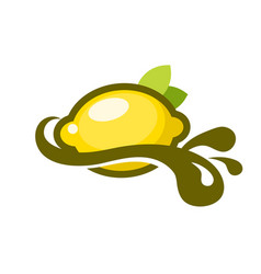 Lemon splash logo icon vector