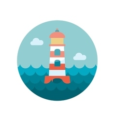 Lighthouse flat icon vector image