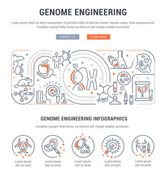 linear banner genome engineering vector image