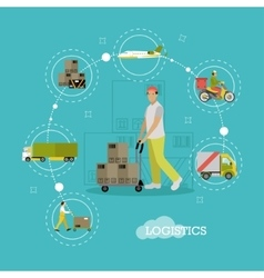 Logistics delivery transportation vector