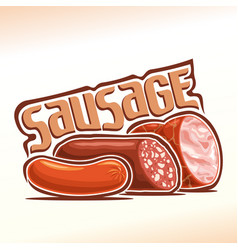 Logo of sausage vector