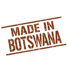 made in botswana stamp vector image