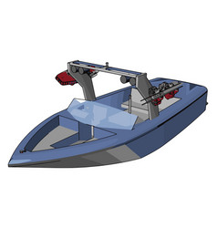 model speed boat on white background vector image