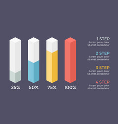 Percents status infographic growth diagram vector