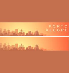 Porto alegre beautiful skyline scenery banner vector
