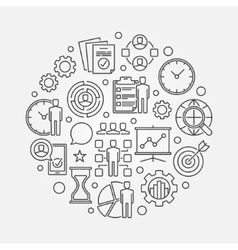 Project Management circle vector