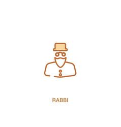 Rabbi concept 2 colored icon simple line element vector