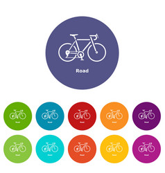road bike icon simple style vector image