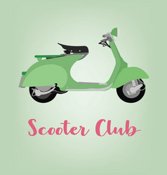 scooter motorbike icon cartoon vector image