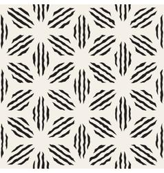 Seamless Geometric Petal Stripes Pattern vector image