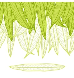 Seamless natural pattern with long leaves vector image