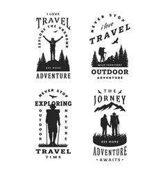 set black and white emblems t-shirt design vector image