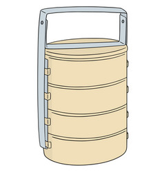 Set of food carrier vector