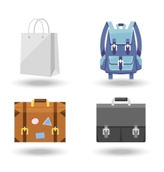 Set of four baggage vector image