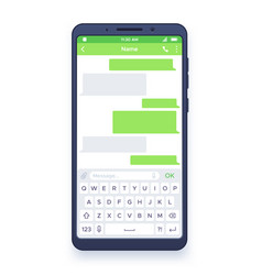 smartphone chat dialogues bubbles on mobile vector image