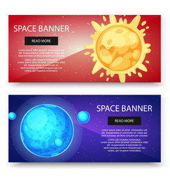 space cosmos and solar system planets vector image