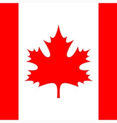 square - flag of Canada vector image