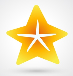 Starfish icon vector