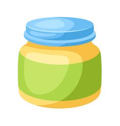 Stylized jar baby puree vector