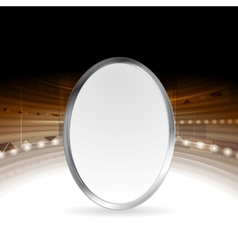 Tech abstract background with metallic ellipse vector