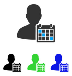 User schedule flat icon vector