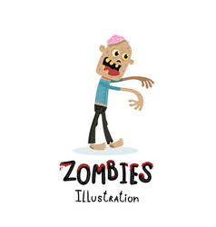 Walking dead character in cartoon style vector