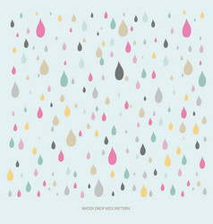 water drop colorful pattern vector image