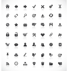 Web and office icons vector