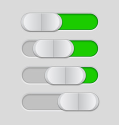 Web interface slider user interface green control vector