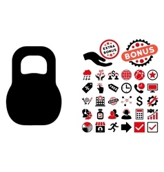 Weight Iron Flat Icon with Bonus vector image