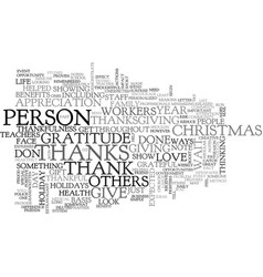 When do you give thanks text word cloud concept vector