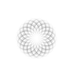 White lotus flower life sacred geometry symbol vector