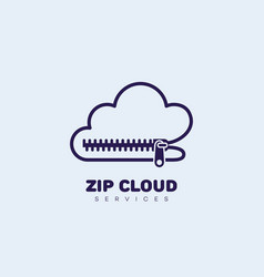 zip cloud logo vector image