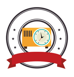 antique watch time isolated icon vector image