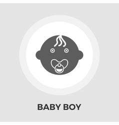 Baby Boy Flat Icon vector image vector image
